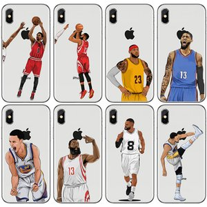 Basketball Designer Cas de téléphone de luxe pour Iphone X XS XR Xs Max 7 7plus 8 8plus 6 6plus Top Quality Painted Cover