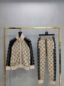 201819 diseñador de juegos de sudor del chándal de los hombres de lujo para hombre otoño Marca chándales del basculador adapta a la chaqueta + pantalones Conjuntos de mujeres ocio deportivo S