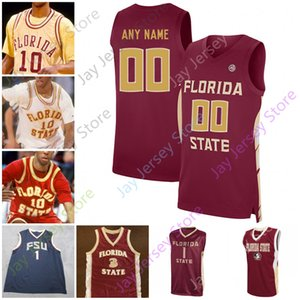 Özel Florida State Seminoles FSU Basketbol Jersey NCAA Kolej 4 Patrick Williams 10 Malik Osborne 5 Beasley 4 Bacon