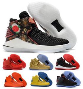 32 32s Pattini Volo di pallacanestro per gli uomini Mens nero Capodanno cinese Finale Jumpman XXXII alta qualità 2020 Chaussures Pattini degli addestratori delle scarpe da tennis