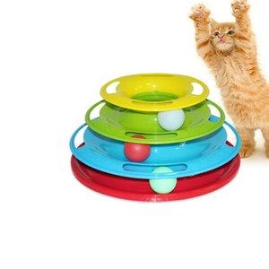 لعبة الحيوانات الأليفة الملونة مضحك القط القط التفاعلية ألعاب الذكاء الثلاثي لعب كرات القرص الدوار لعبة الكرة ألعاب