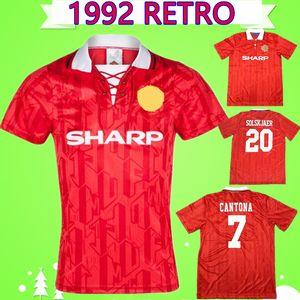 CANTONA BECKHAM ROBSON GIGGS Retro MANCHESTER 1992 1994 UNITED Football shirt 92 94 Vintage soccer jersey classic antique MAN UTD Maillot