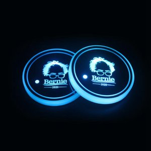 Trump Cup Pad LED Acrylic Coasters American President Election Colorful Luminous Cup Mats Trump Car Non-slip Mat LJJO7979