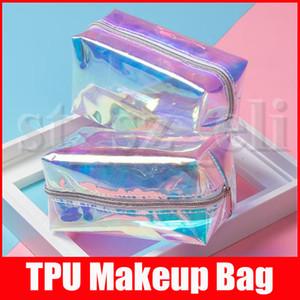 Мода ТПУ Лазерная макияж сумка Творческий ослеплен Путешествия сумка для хранения туалетных принадлежностей Сумки Косметическая сумка красоты Макияж Организатор