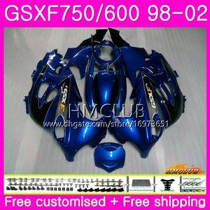 Kit For SUZUKI KATANA GSX750F GSXF750 1998 1999 2000 2001 2002 Stock blue Body 3HM.15 GSXF 750 600 GSX600F GSXF600 98 99 00 01 02 Fairing