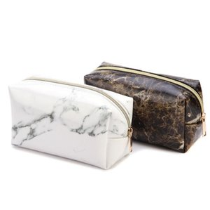 Marble Storage bag Multi-Function Purse Box Travel Makeup Cosmetic Bag Toiletry Pencil Case Coin bag Beauty Make Up Organization Tools