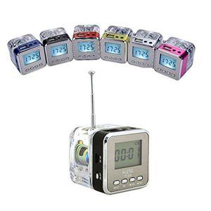 NiZHi TT-029 크리스탈 FM 알람 시계 TF SD 슬롯 USB VS TDV26와 스테레오 스피커 미니 LED 디스플레이 서라운드 사운드 박스 음악 플레이어