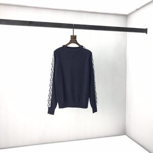 Zeitiges Frühjahr 2020 neue Farbe Blockbuchstaben-Logo Kurzarm T-Shirt Doppelstrang feine Baumwollgewebe Schwarz-Weiß-K9