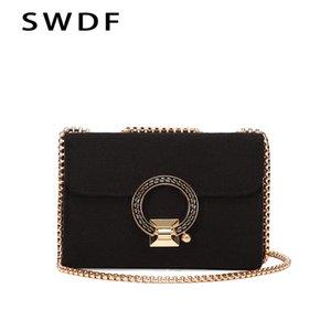 Moda Couro de SWDF Mulheres Sólidos ombro Cor versátil Messenger Bag Bolsa de Ombro Handbag 2019 Verão quente venda