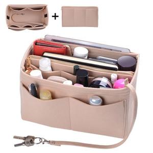 محفظة منظم ، ورأى حقيبة المنظم إدراج المشكل محفظة منظم مع سحاب تناسب جميع أنواع حمل / المحافظ حقائب أدوات الزينة مستحضرات التجميل