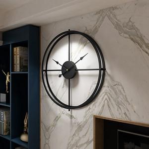 El nuevo diseño del estilo 3D Breve Europea silencioso reloj reloj de pared de diseño moderno para colgar del Ministerio del Interior decorativo relojes de pared Decoración para el Hogar