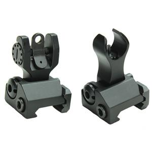 AR15 Vistas de hierro abatibles delanteras y traseras Vistas de hierro de respaldo