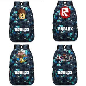 New Roblox jogo dos desenhos animados mochila para adolescentes bookbag Aluno Escola Bags Unisex viagem Ombros Saco de Moda Laptop Bags Presente