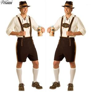 Oktoberfest Costume Lederhosen festival bavarois Octoberfest bière allemande Halloween Costumes pour hommes Bière Plus Size M, L, XL, 2XL