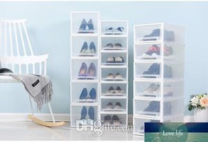 Stackable Transparent Plastic Shoes Storage Box Creative Drawer Style Dustproof Female Male Children Shoes Organizer High-heeled Shoes Case