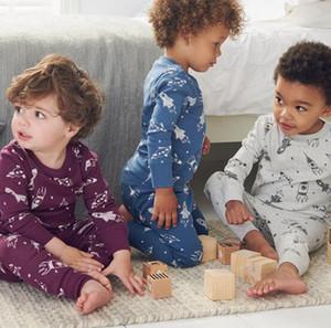 niños bebé dormido sistemas de la ropa de terciopelo linda camiseta de manga larga + pantalones de invierno cálido hogar 2 PC sets dormir ropa 3 colores