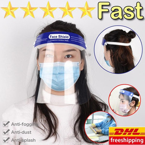 DHL Free Anti-Fog Rosto máscara facial completa Isolamento máscara transparente máscara protetora Proteção evitar respingos Gotas