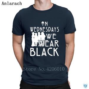 Horror On Wednesdays We Wear Black T-Shirt Summer Quirky Cheap S-3xl Men's Tshirt Creature Casual Trend Anlarach Streetwear