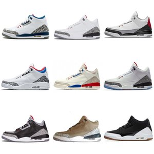 Black white Cement 3 III Kids Basketball Shoes tinker sport blue wolf grey hurricane red New Retro sneakers mens trainers Michael Sports