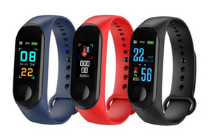 M3 Inteligente da banda pulseira Heart Rate Blood Pressure Monitor de pulso inteligente Pulseiras de Fitness OLED Rastreador Relógio Para todos os celulares