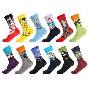 4-Pack Men Calzino divertente vestire Happy Socks-colorato divertenti novità Crew Socks 01 Socks d'arte (41-46 Size)