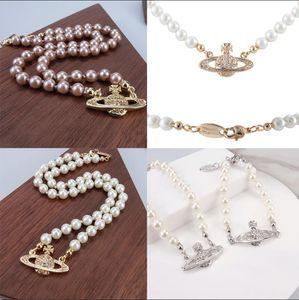 Новые женские Короткие цепи перлы Спутниковое ожерелье Rhinestone мяч ключицы цепи ожерелье ювелирных изделий Multicolor высокого качества