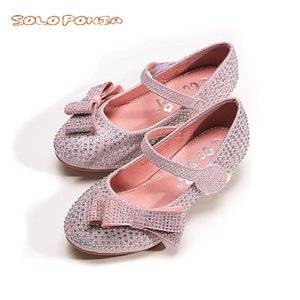 2020 Little Girl Leather Shoes Formal girls School Shoes Student Lace Up Evening Party Dresses for Kids A666-138