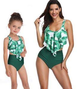 Top girl ladies 2020 split swimwear women's high waisted bikini with ruffles parent-child Swim wear Bikini Set yakuda flexible stylish kid