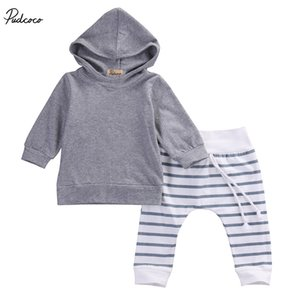 2pcs Newborn Toddler Kids Baby Boy Autumn Warm Hooded Coat Tops+ Pleated Pants Outfits Clothing Sets 100%cotton Soft