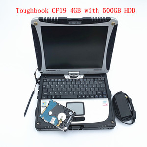 Toughbook CF19 Laptop da 4 GB con hard disk girevole da 500 GB Anti-corrosione Lavoro militare per strumento diagnostico md star c4 c5 C6 alldata