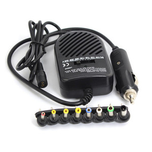 Universal DC 80W Car Auto Charger Power Supply Adapter Set For Laptop Notebook with 8 detachable plugs Free Shipping Wholesale 10PS