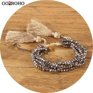 montão Strand Pulseiras Go2boho Bracelet para as Mulheres MIYUKI Cristal Pulseiras mexicana Pulseras Mujer 2020 Femme Verão borla jóia presente Dr ...