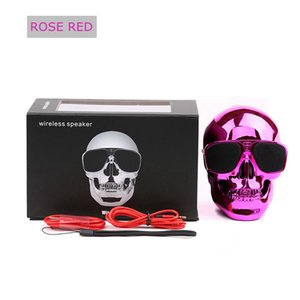 Taşınabilir Kafatası Bluetooth Hoparlör Kafatası Hayalet Kablosuz Stereo Subwoofer Mega Bass 3D Stereo El-free Audio Player Mini Hoparlör Yeni Sıcak