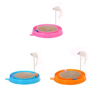 2019 New Funny Cat Kitten Turbo Pad Board Toy With Ball Mouse Training Play Pet Interactive Toy Supplies