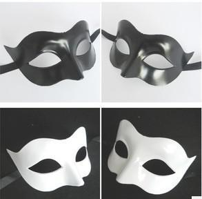 new party mask Black and white fox Half Face Mask Masquerade Masks props free delivery