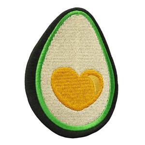 Neue Design Cartoon Obst Avocado Stickerei Patch DIY Eisen Auf Nähen Auf Applique Für Kleidung Dekoration Custom Design