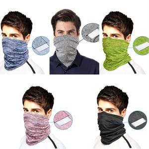 Schal Bandanas Hals Gamasche mit Safety-Filter Pads Mehrzweck Balaclava Gesicht Abdeckung für Frauen Männer Stirnband Im Freien Radfahren Kopfbedeckung B65F