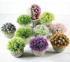 Gefälschte Blume Gras Ball Künstliche Blumen Kunststoff Bonsai Simulation Grünpflanze Blumenerde Retro Papier blumentopf Einrichtung CLS659