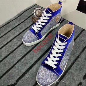 nouvelles chaussures de sport semelles rouges Designe hococal pointes en daim bas en haut, les chaussures luxe des hommes et des femmes