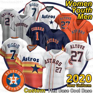 Houston Jersey 2020 Saison George Springer Alex Bregman 27 Jose Altuve Zack Greinke Justin Verlander Yuli Gurriel Jerseys