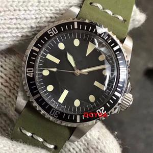 Deri Vintage Lüks Erkek Saatler erkekler Paul Newman Mekanik Otomatik İzle Paslanmaz Çelik Designer isim saatı reloj