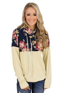 Hoodies Autumn Winter Long Sleeve Tees Casual Loose Ladies Clothing Women Designer Drawstring Sweatshirts Stacker Collar Printed