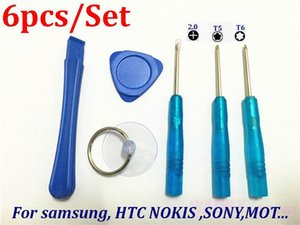 1000set  lot* 6 in1 Hand Tools Screwdriver Set Mobile Phone Repair Opening Kit For Blackberry HTC Samsung SONY Nokia LG