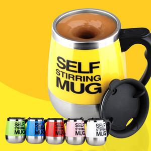 Self Stirring Mug Auto Mixing Drink Tea Coffee Cup Electric Travel Mug Coffee Mixing Drinking Thermos Cup mixer 450ml DHL SHip HH-C04