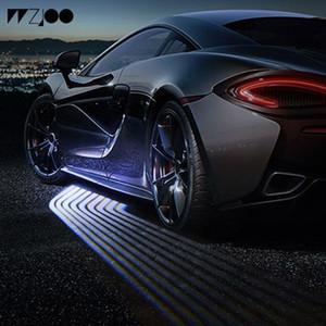 2шт ангельские крылья свет Добро пожаловать свет теневой свет проектора автомобиля светодиодные двери сигнальная лампа для Benz Audi BMW Toyota Volkswagen