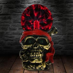 1 조각 붉은 반다나 동상 조명과 해적 두개골 머리 민감한 플라스마 공 해적의 해적의 해골 Ornamen