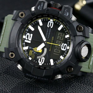 os homens assistir GWG1000 Assista 60 milímetros esportes originais de fábrica Movimento Digital YG Relógios de pulso impermeável com caixa de aço