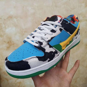 Fashion SB Mens Skateboard Shoes 2020 New Men Women Low Leather Casual Sports Shoes Outdoor Dunk Shoes Size 36-44