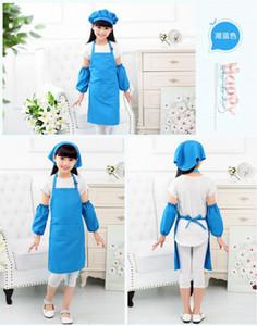 Child Apron Kids Sleeve Hat Pocket Kindergarten Kitchen Baking Painting Cooking Drink food Enfant Tablier Delantal Logo print