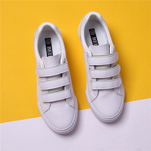 Women's Shoes 2020 New Fashion Leather Sneakers White Women Sneakers Spring New Trendy Breathable White Shoes Female Flats